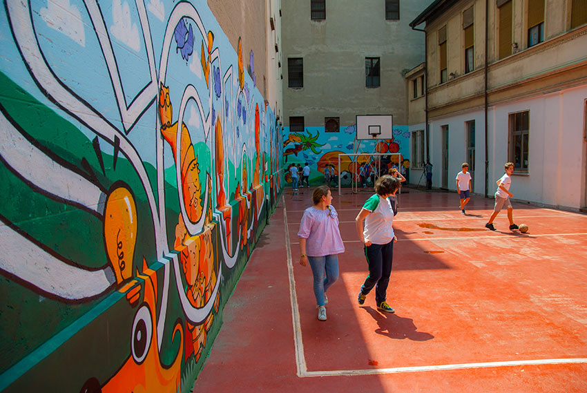 Campo di Basket in cortile