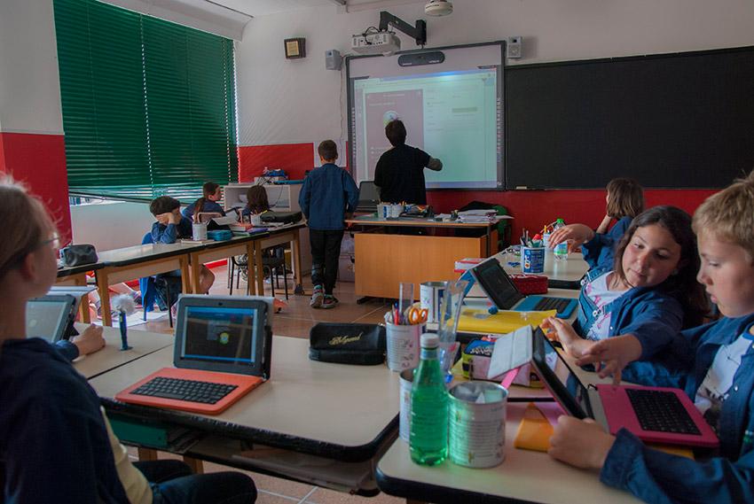 Una classe della primaria