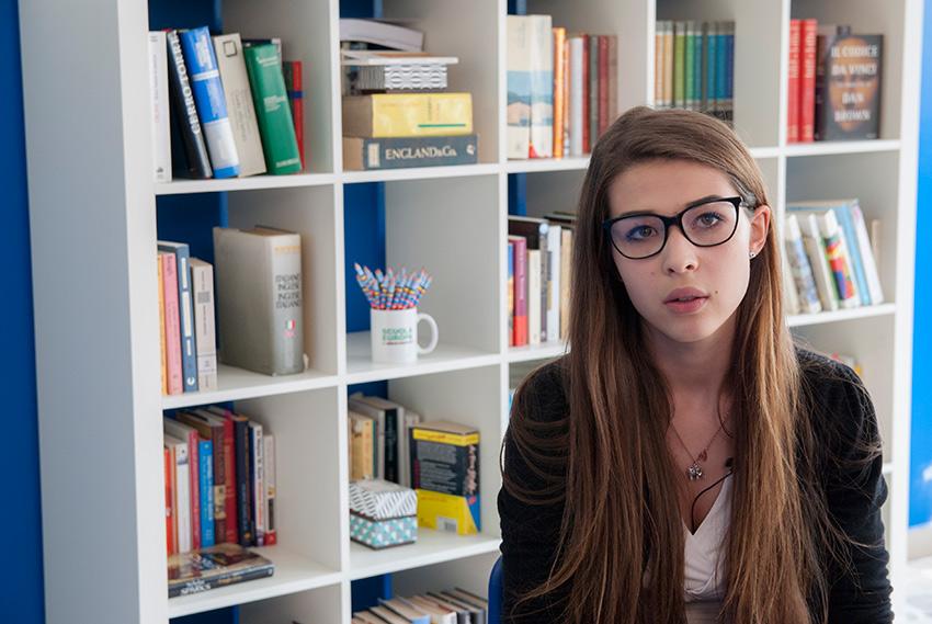 Una studentessa del liceo