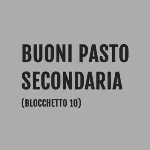 Buoni Pasto Scuola Secondaia, Milano